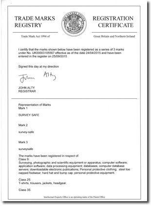 Certificate of Trade Mark Registration